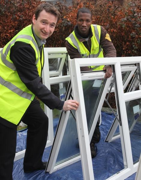 John on site as part of Apprenticeship Week