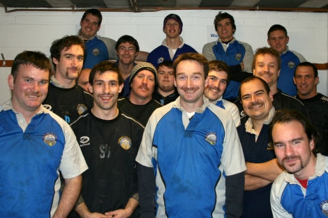 Taking part in last year's Movember with Old Bedians RUFC