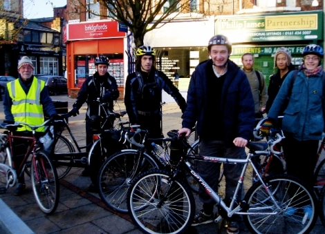 John Leech MP on the crticial commute bike ride