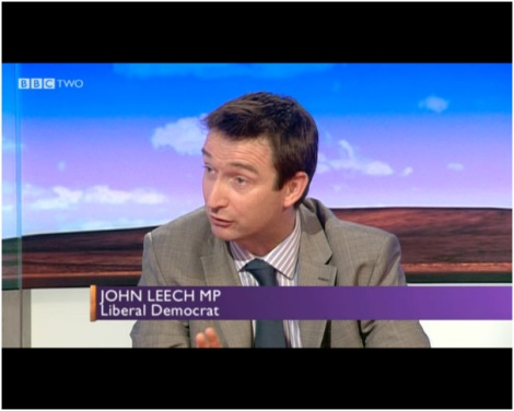 Click on the link to watch John Leech MP on the Daily Politics via the i-player.