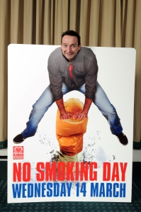 I showed my support for National No Smoking Day last March