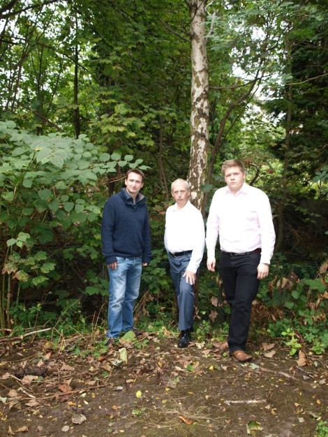 John with Cllr Victor Chamberlain and Matt Gallagher at Footpath 181 last year