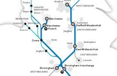 The proposed route include plans for new stations at Piccadilly and Manchester Airport