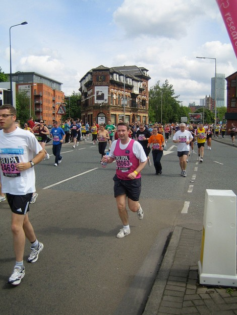 John taking part in the Great North Run on behalf of Breast Cancer UK