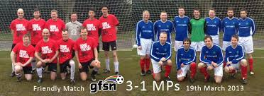 John played in the recent game against the GFSN. HE score but the MP's lost 3-1