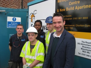 John with Southway apprentices John, Sam, Leighton and Sean
