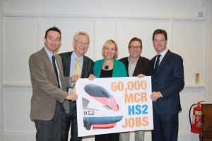 The Lib Dems are united in support of HS2. John with Nick Clegg, Mark Hunter, Andrew Stunell and Lisa Smart