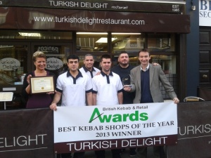 John with Tina and the Staff at Turkish Delight