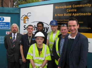 John with Norman Lewis and apprentices at Southways.