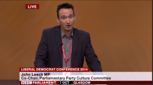 John speaking at Lib Dem Conference this week
